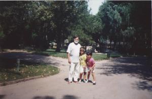 Con mi abuelo en el zoo